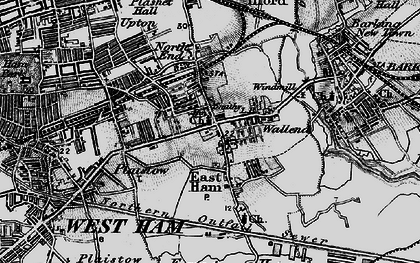 Old map of East Ham in 1896