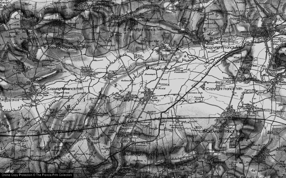 Old Map of Historic Map covering Letcombe Brook in 1895