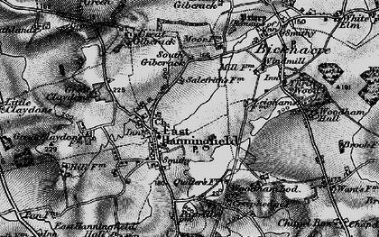 Old map of East Hanningfield in 1896