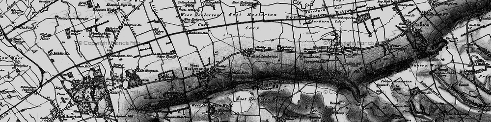 Old map of Westfield Wold in 1898