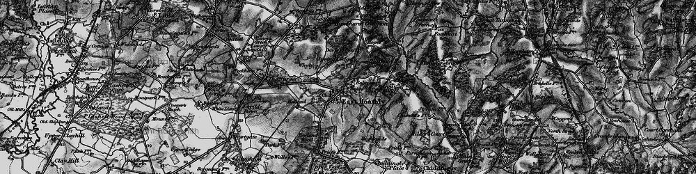 Old map of East Hoathly in 1895
