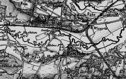 Old map of Worgret Heath in 1895