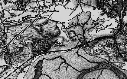 Old map of Wood Bar Looe in 1895
