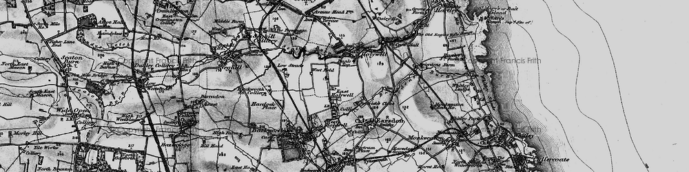 Old map of East Holywell in 1897