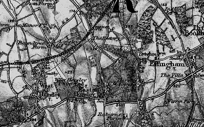Old map of East Horsley in 1896