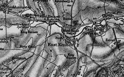 Old map of All Cannings Down in 1898
