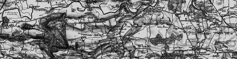 Old map of Wharfe Dale in 1898