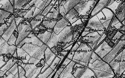 Old map of Langdon Abbey in 1895