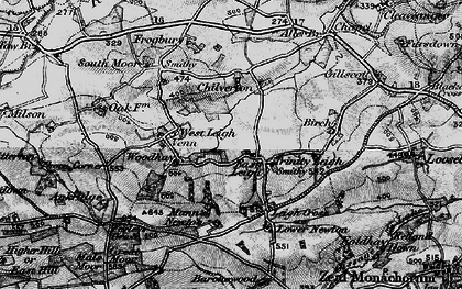 Old map of Leigh Cross in 1898