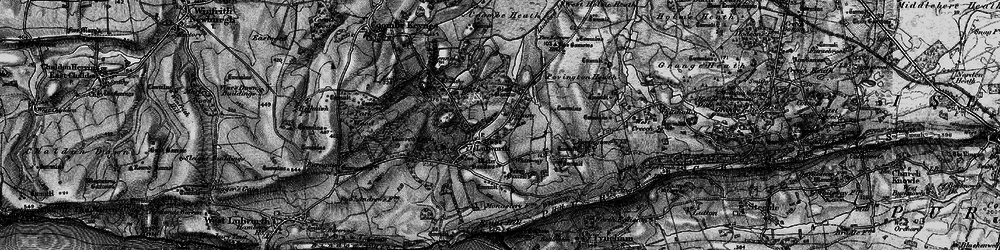 Old map of East Lulworth in 1897
