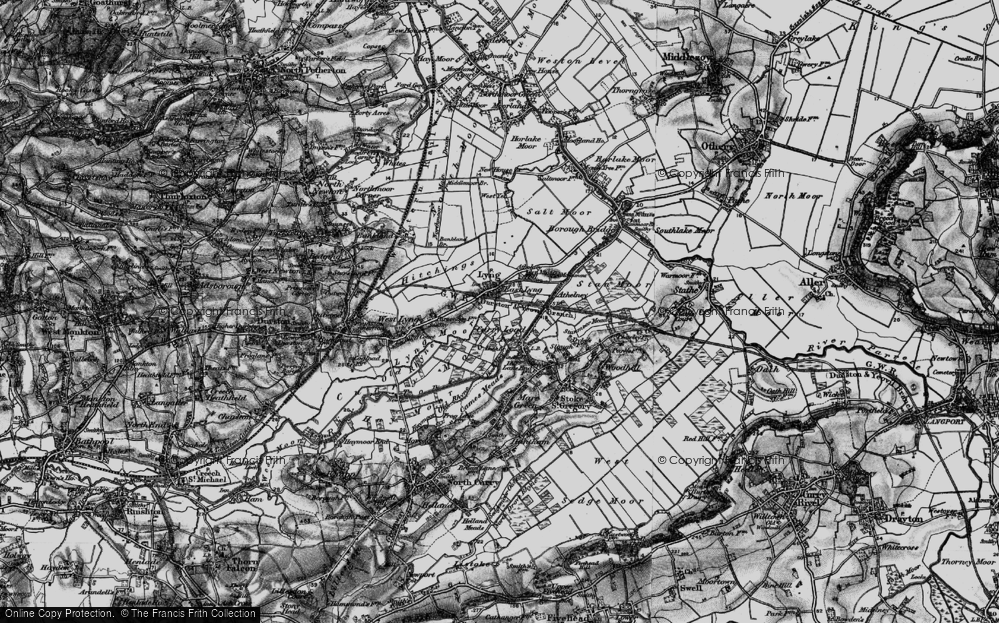 Old Map of East Lyng, 1898 in 1898
