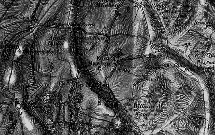 Old map of Wildhams Wood in 1895