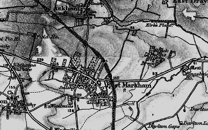 Old map of East Markham in 1899