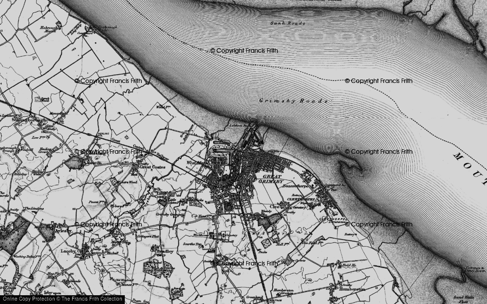 Old Map of East Marsh, 1895 in 1895