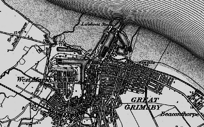 Old map of East Marsh in 1895