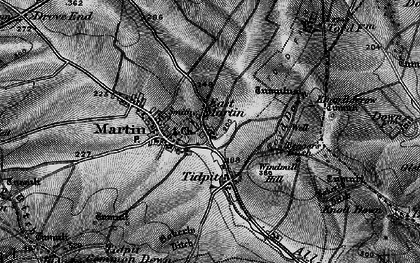 Old map of Allen River in 1895