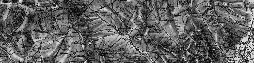 Old map of Allen River in 1895