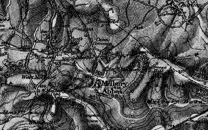 Old map of Zig-Zag Hill in 1898