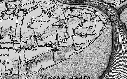 Old map of Wick Marsh in 1896