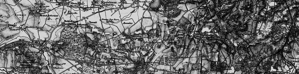 Old map of Whitmore Bottom in 1895