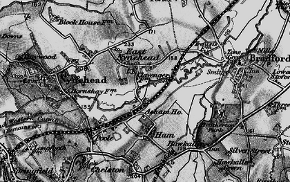 Old map of Asham Ho in 1898