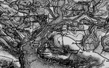 Old map of West Prawle in 1897