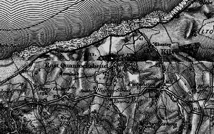Old map of East Quantoxhead in 1898