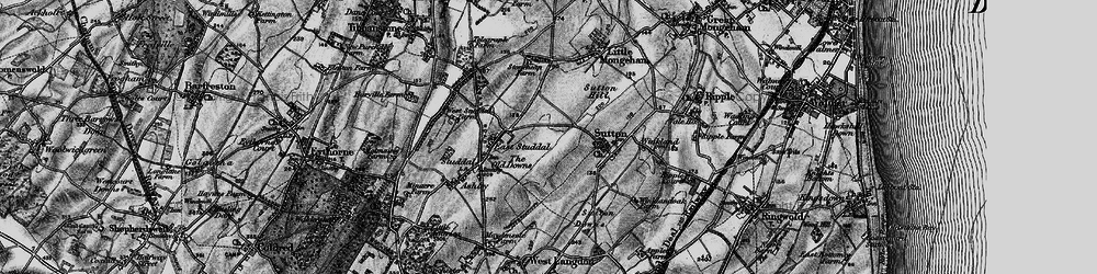 Old map of White Cliffs Country Trail in 1895