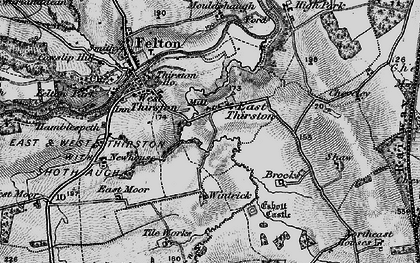 Old map of Wintrick in 1897