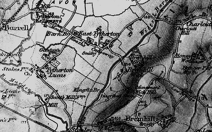 Old map of East Tytherton in 1898