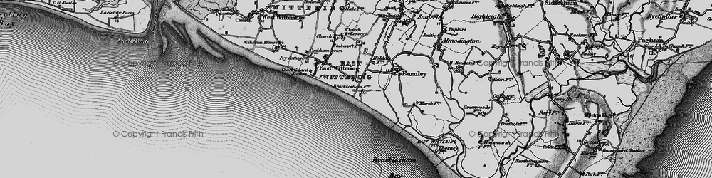 Old map of East Wittering in 1895