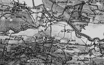 Old map of East Witton in 1897