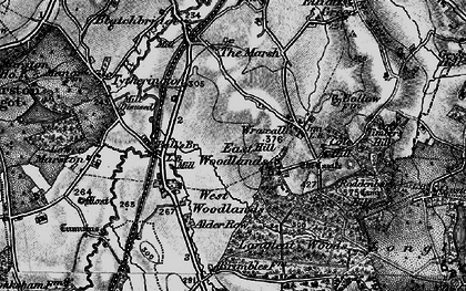 Old map of Wraxall Hill in 1898