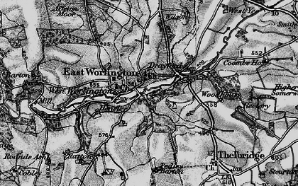 Old map of Adworthy in 1898