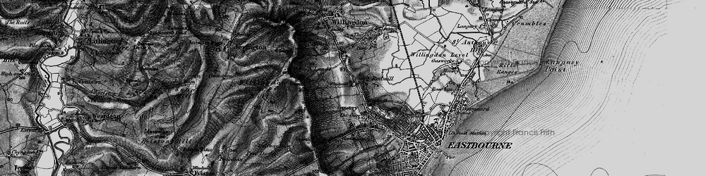 Old map of Eastbourne in 1895