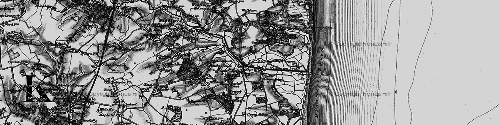 Old map of Westleton Walks in 1898