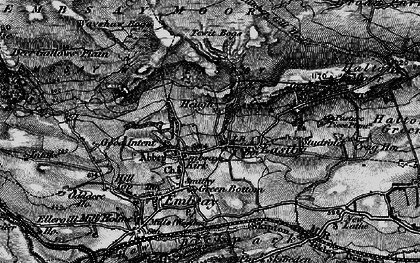 Old map of Barden Moor in 1898