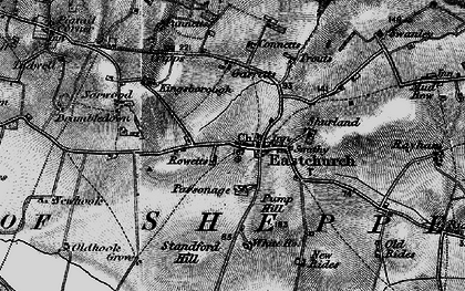 Old map of Eastchurch in 1894