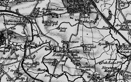 Old map of Wharley Hall in 1899