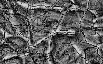 Old map of Eastcott in 1896