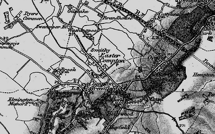 Old map of Easter Compton in 1898