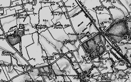 Old map of Easterside in 1898