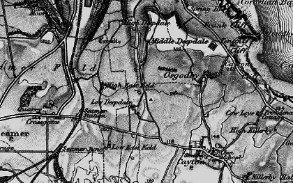 Old map of White Nab in 1898
