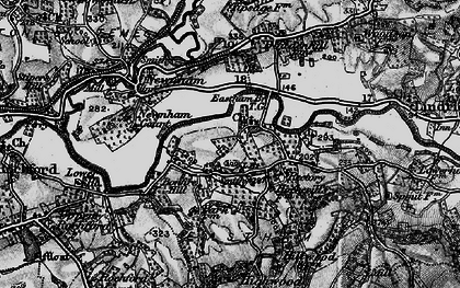 Old map of Eastham in 1899