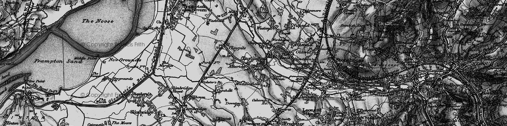 Old map of Eastington in 1897