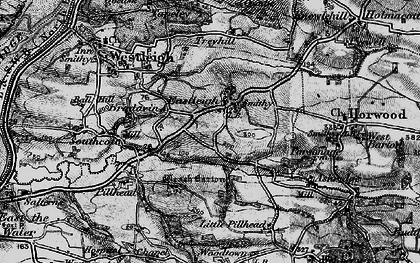 Old map of Ball Hill in 1895