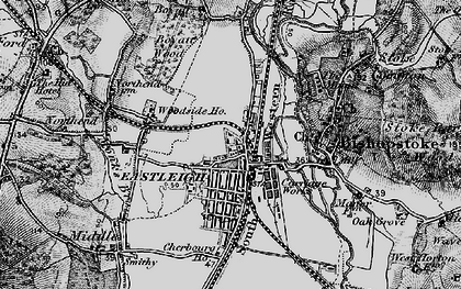 Old map of Eastleigh in 1895