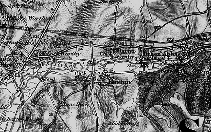 Old map of Worthy Park Ho (Sch) in 1895
