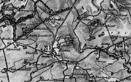 Old map of Baileytown in 1897