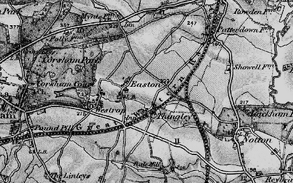 Old map of Easton in 1898